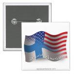 Finnish-American Waving Flag Button