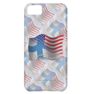 Finnish-American Waving Flag Cover For iPhone 5C
