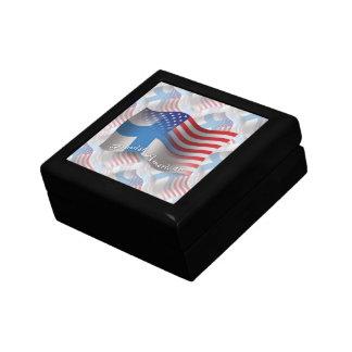 Finnish-American Waving Flag Jewelry Box