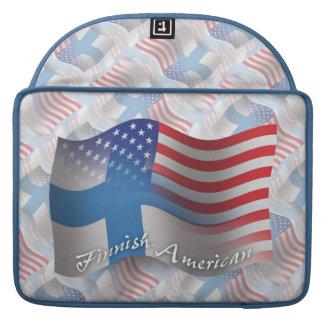 Finnish-American Waving Flag MacBook Pro Sleeves