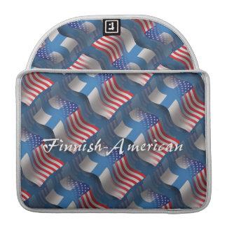 Finnish-American Waving Flag MacBook Pro Sleeve