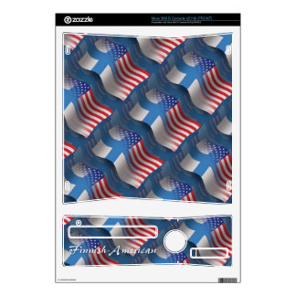 Finnish-American Waving Flag Xbox 360 S Decals