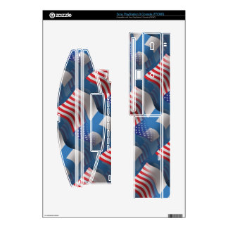 Finnish-American Waving Flag Skin For The PS3 Console