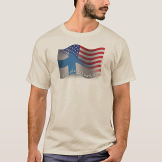 Finnish-American Waving Flag T-Shirt
