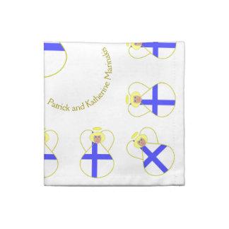Finnish Angel Flag Blonde Hair Cloth Napkin