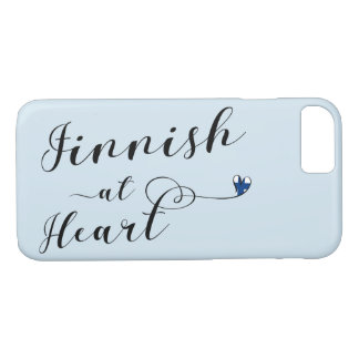 Finnish At Heart Mobile Phone Case, Finland iPhone 8/7 Case