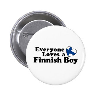 Finnish Boy Pinback Button