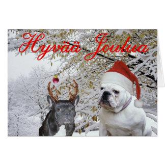 Finnish Bulldog Christmas 2 Cards
