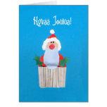 Finnish Christmas 'Cupcake with Santa' Card