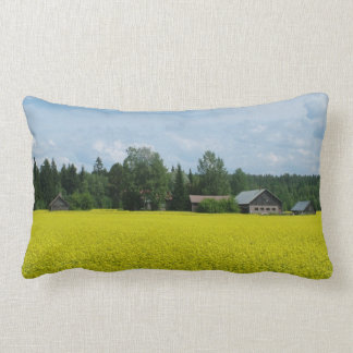 Finnish Countryside custom throw pillow