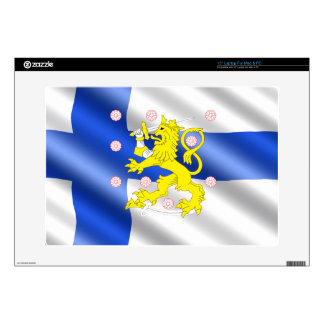 "Finnish flag 15"" laptop skin"