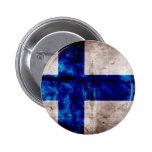 Finnish Flag 2 Inch Round Button