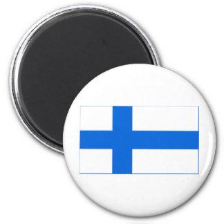 Finnish Flag 2 Inch Round Magnet