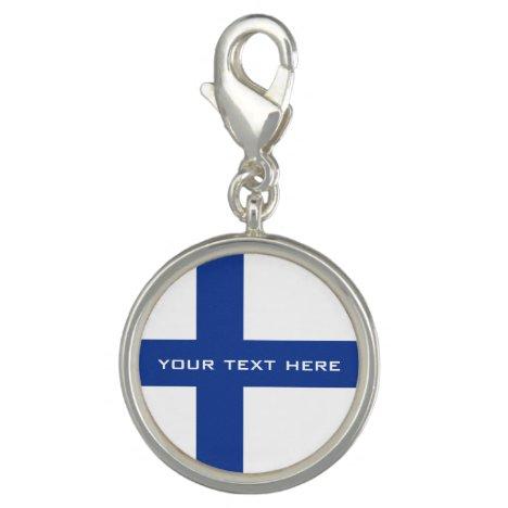 Finnish Flag custom charm