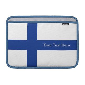 Finnish Flag custom device sleeves MacBook Air Sleeves