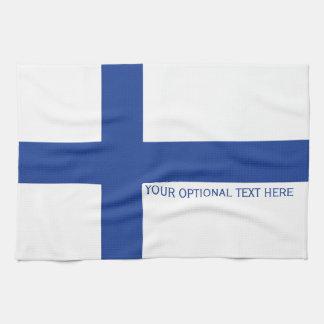 Finnish Flag custom hand towel
