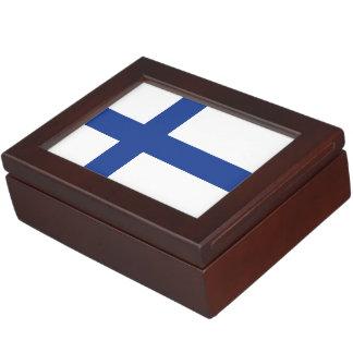 Finnish Flag custom keepsake box