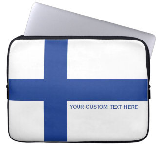 Finnish Flag custom laptop sleeves