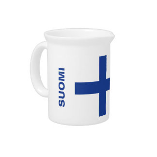 Finnish Flag custom pitcher