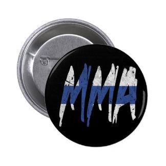 Finnish Flag MMA Pinback Button