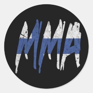 Finnish Flag MMA Round Stickers
