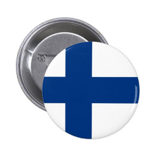 Finnish Flag on Button
