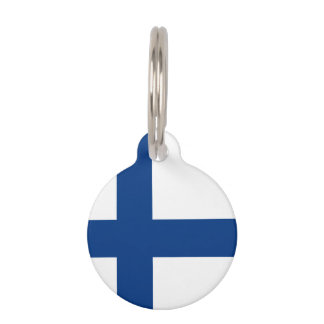Finnish flag pet ID tag