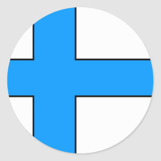 Finnish Flag T-shirts and Gifts Classic Round Sticker