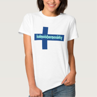 Finnish Flag Trigeminal Neuralgia shirt. Tee Shirts