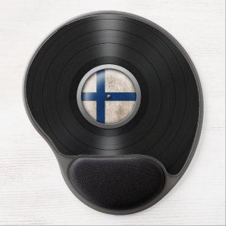 Finnish Flag Vinyl Record Album Graphic Gel Mouse Pad
