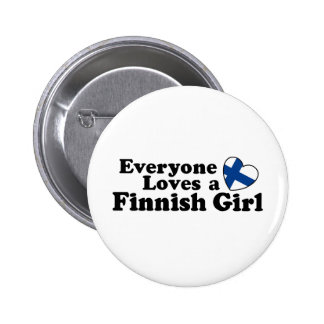 Finnish Girl Button