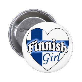 Finnish Girl Pinback Buttons