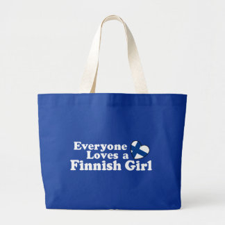 Finnish Girl Large Tote Bag