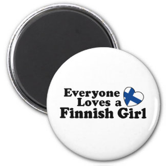Finnish Girl Refrigerator Magnets