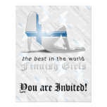 Finnish Girl Silhouette Flag Personalized Announcements