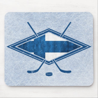 Finnish Hockey Flag Logo Suomi Mousemat Mouse Pad