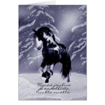 Finnish Horse Christmas Card - Digital Painting -