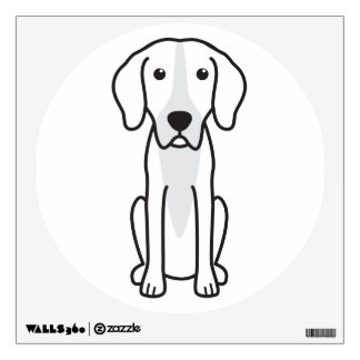Finnish Hound Dog Cartoon Wall Decal