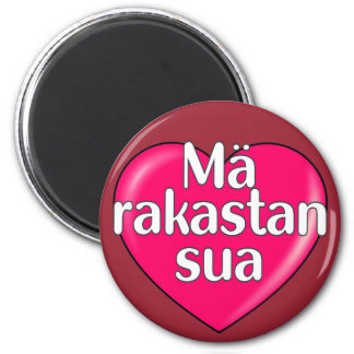 Finnish - I love you Magnet