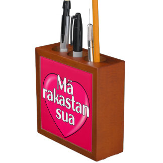 Finnish - I love you Pencil Holder