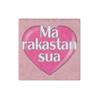 Finnish - I love you Stone Magnet
