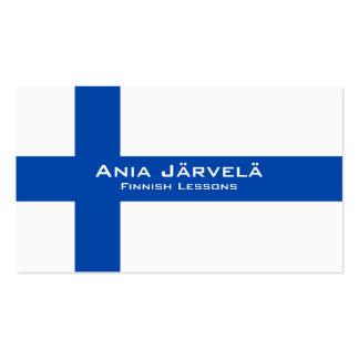 Finnish Lessons / Finnish Teacher Business Card