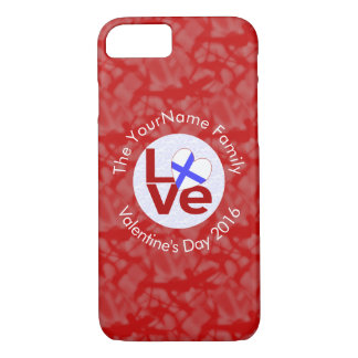 Finnish LOVE Flag White on Red iPhone 8/7 Case