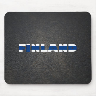 Finnish name and flag mouse pad