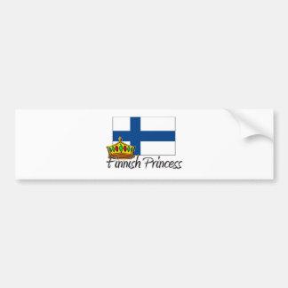 Finnish Princess Bumper Sticker