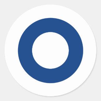Finnish roundel classic round sticker