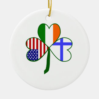 Finnish Shamrock Ceramic Ornament