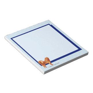 Finnish Spitz, Blue w/ White Diamonds(unlined) Notepad