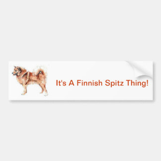 Finnish Spitz Bumper Sticker