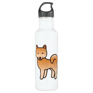 Finnish Spitz Cartoon 24oz Water Bottle
